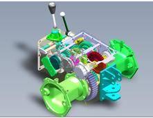 CL200小型农用四轮拖拉机变速箱(全参数化