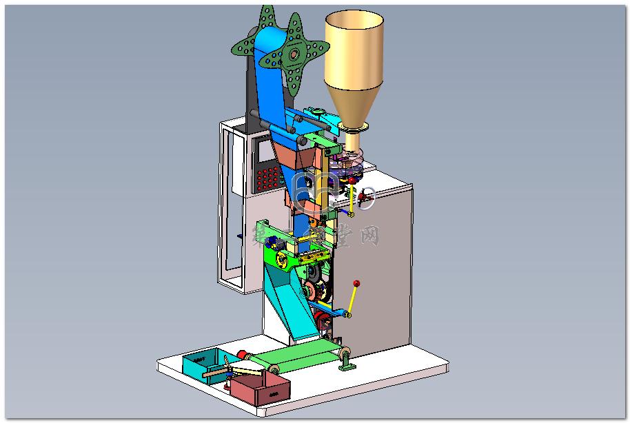 全自动立式封装机 3D图纸 三维模型下载