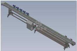 10米不锈钢输送设备(风冷却+水冷却) 3D图纸 三维模型下载