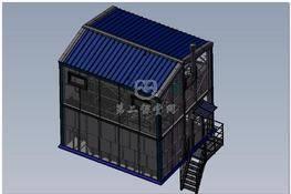 废水生物处理站(废水生物处理厂) 3D图纸 三维模型下载