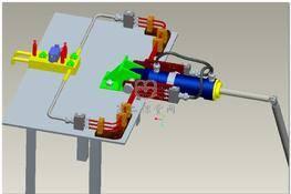 液压钢管疲劳试验机 3D图纸 三维模型下载