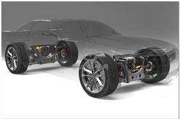 Tesla特斯拉电动汽车电力驱动系统(含悬挂结构) 3D图纸 三维模型下载