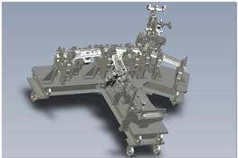 汽车侧围B柱焊装夹具设计 3D图纸 三维模型下载