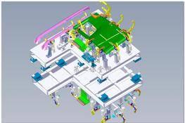 卡车驾驶室车门焊接夹具(汽车焊装夹具设计) 3D图纸 三维模型下载