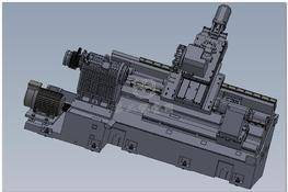 斜床身数控机床(可加工曲面) 3D图纸 三维模型下载