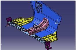 汽车前围板和前围板夹具总成 3D图纸 三维模型下载