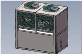 20匹空气能热水器主机 3D图纸 三维模型下载