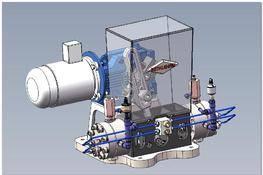 小排气量隔膜压缩机 3D图纸 三维模型下载