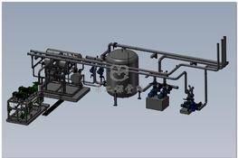 冷水机制冷系统充氨设备 3D图纸 三维模型下载