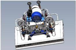 CartD25系列隔膜压缩机 3D图纸 三维模型下载