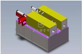 双工位透热炉(带气缸进料装置) 3D图纸 三维模型下载
