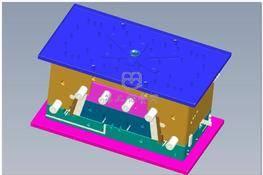 丰田汽车保险杠模具 3D图纸 三维模型下载