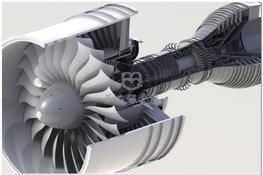 GP7200发动机(空客A380配装) 3D图纸 三维模型下载