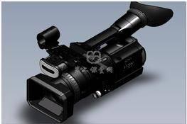 索尼Sony hvr z1u hi-def高清摄像机模型 3D图纸 三维模型下载
