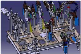 一汽汽车车身焊接夹具 3D图纸 三维模型下载