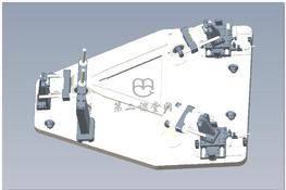 东风天龙车推力杆装配综合检具 3D图纸 三维模型下载