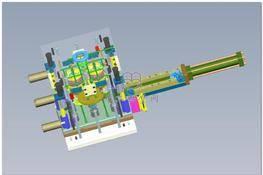 油缸带动齿条脱螺纹模具 3D图纸 三维模型下载